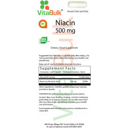 Niacin 500 mg (60 Count)