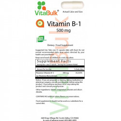 Vitamin B1 500 mg (100 Count), 610-06
