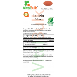 Lutein 20 mg Softgel - 30 Count Bag 583-02