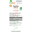 Taurine 1000 mg Capsule - 100 Count Bag 735-06