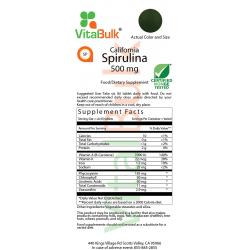 California Spirulina 500 mg Tablet - 180 Count Bag