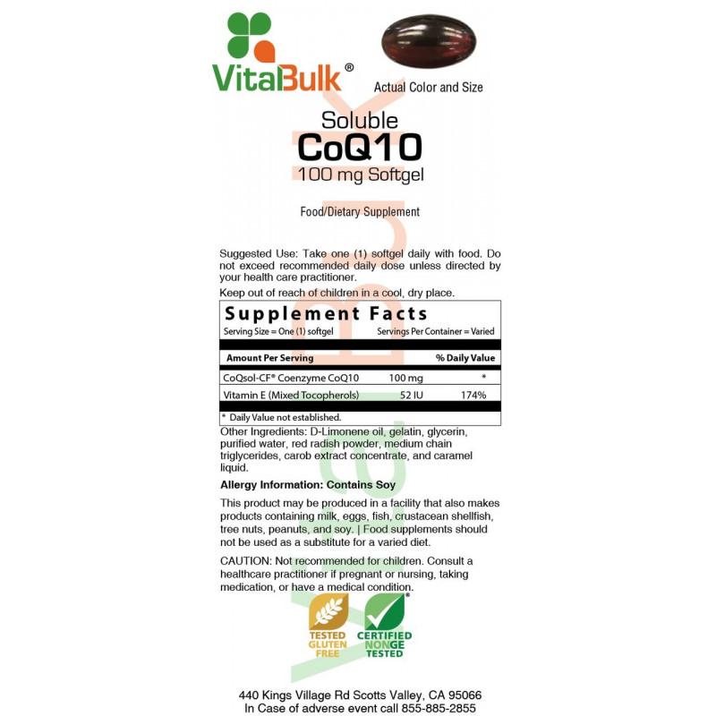 Emulsified CoQ10 30 mg Softgel 30 Count Bag,